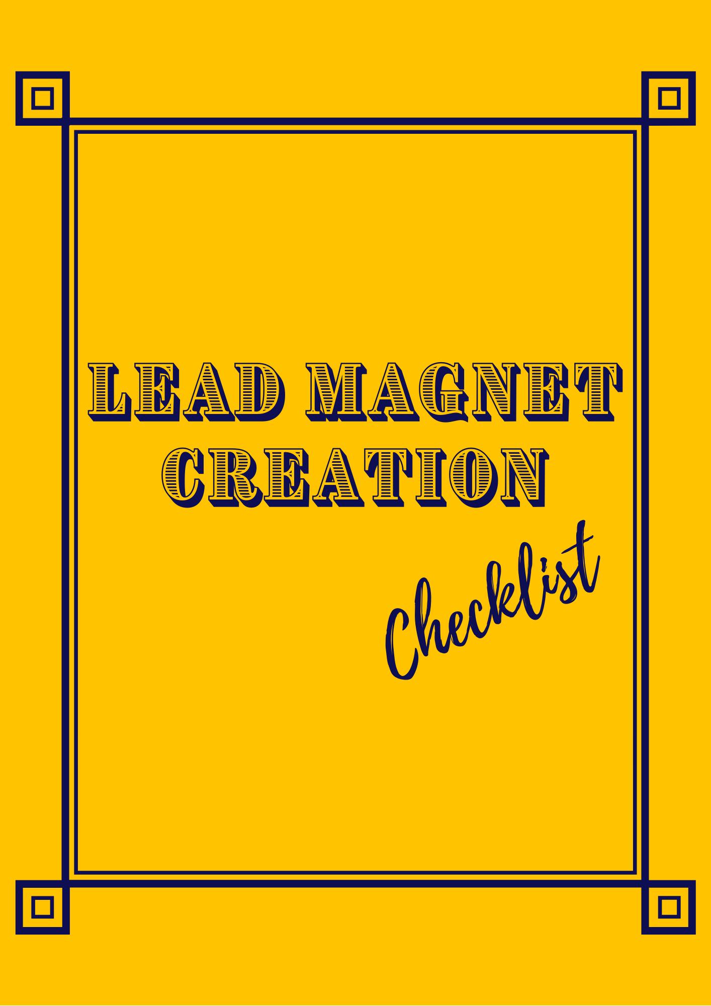 Lead Magnet Creation