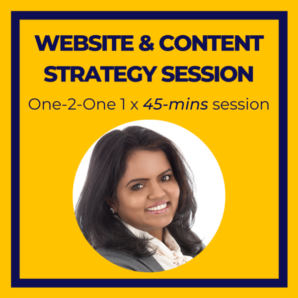 Website Content Marketing Strategy session